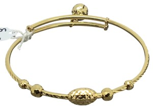 Other 18K Yellow Gold Adjustable Dimaond Cut Child Bangle