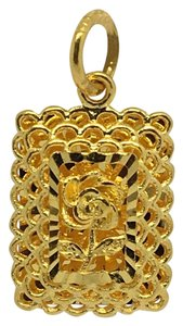 Other 24K Solid Gold Flower Pendant