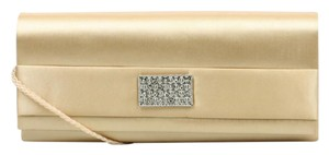 Style & Co Satin Optional Strap Beige Clutch