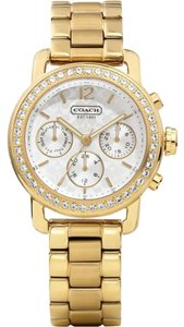 Coach Coach Legacy Signature Gold Stainless Chronograph Watch 14501883