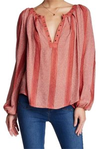 Free People Boho Hippie Peasant Flowy Top DESERT SUN