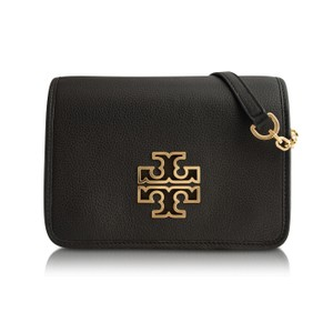 Tory Burch Leather Messenger Cross Body Bag