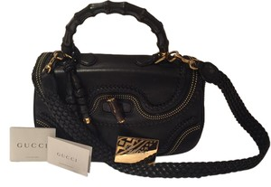 Gucci Studded Leather Limited Edition Mirror Included Only 50 Made Tote in Black