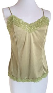 Worthington Chartreuse Adjustable Bralette Lace Trim Top Chartreuse Green