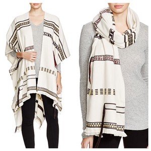 Tory Burch NEW TORY BURCH JACQUARD TRIBAL-PRINT PONCHO