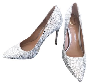Vince Camuto Wedding Bedazzled Silver/Sparkling Pumps