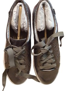 Tory Burch Marion Quilted Gunmetal Flats