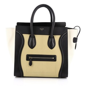 Céline Celine Leather Tote in Yellow