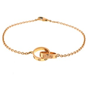 Cartier Cartier 18k Rose Gold Interlocking LOVE Bracelet