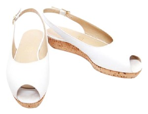 Bruno Magli Leather Italian Summer/spring Casual white Wedges