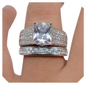 Other New 2pc Diamonique and CZ Wedding Set