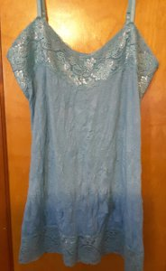 Vanity Lace Trim Adjustable Top Aqua