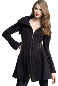 Nanette Lepore Wool Military Style Trench Coat