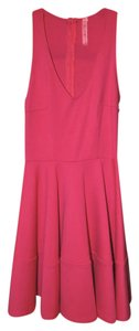 Eight Sixty Womens Flirty Low V Neckline Dress