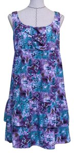 Ann Taylor LOFT short dress Purple/Green on Tradesy