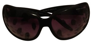 A|X Armani Exchange oversized black logo sunglasses