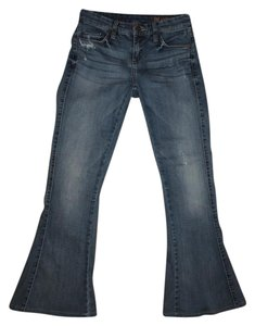 BlankNYC Womens Distressed Flare Leg Jeans-Distressed