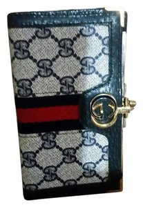 Gucci Vintage Gucci Navy Wallet with stripes
