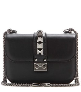 Valentino Glam Lock Patent Rockstud Large Shoulder Bag