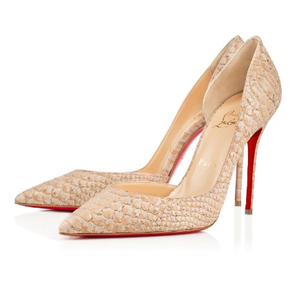 4d4e0165ffb Christian Louboutin Beige Iriza Python Embossed Pointed 39 Pumps Size US  8.5 Regular (M, B) 43% off retail