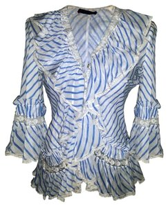 Alexander McQueen Top Blue/White