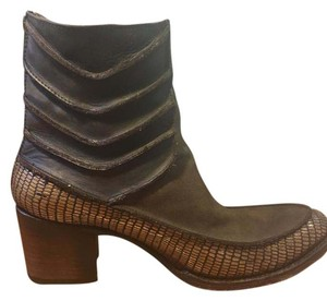 Steve Madden Freebird Fb-crank Fb Brown, silver, leather Boots