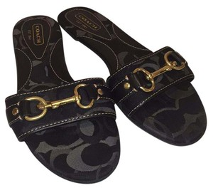 Coach Black and Grey Sandals