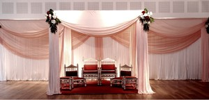Mandap Canopy Drape And Pipe Kit Complete Kit