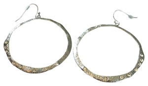Neiman Marcus Silver Crystal Circle Hoops