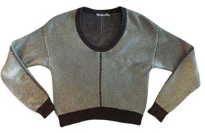 Alexander Wang Designer Knit Athleisure Cropped Sweater