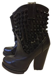 Jeffrey Campbell Free People Studded Leather Chunky black Boots