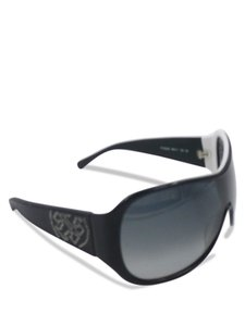 Tory Burch Tory Burch Black Shield with leather Sides TY7002Q Sunglasses