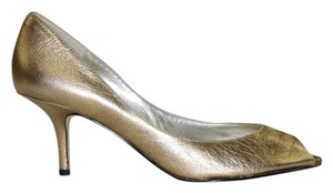 Nine West 9 Dressy Metallic Gold Pumps