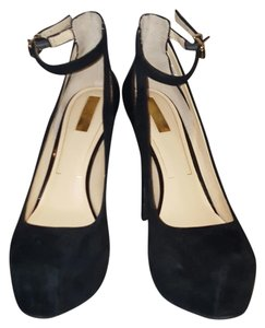 Jessica Simpson Black Suede Platforms