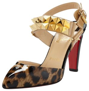 Christian Louboutin Ziggoo Spike Louboutin 85mm leopard Pumps
