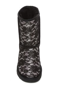 UGG Australia Floral black with lacy overlay Boots
