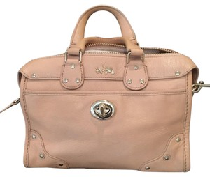 Coach Dust Is Included Strap Detachable Strap Satchel in pale peach