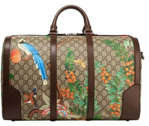 Gucci Gg Tian Weekend Gg Supreme beige, chocolate Travel Bag