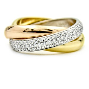 Cartier Cartier Trinity Classic Diamond Ring 18k Gold Size 6.5(52) with papers