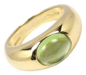 Tiffany & Co. Rare Vintage Tiffany & Co 18K Gold Cabochon Peridot Ring ITALY
