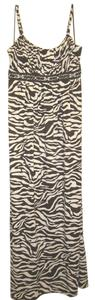 brown and white zebra Maxi Dress by INC International Concepts Maxi Comfortable