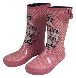 Chooka - Hello Kitty Pink with black and white details Boots