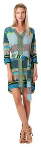 Hale Bob short dress Teal blue black green on Tradesy
