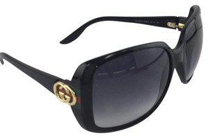 Gucci New Gucci GG 3166/S D28JJ Black Plastic Style Green Red Temple Sunglasses