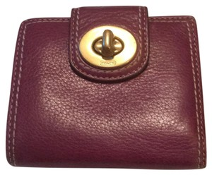 Coach leather coach wallet
