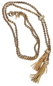 J.Crew chain necklace with two gold tassels