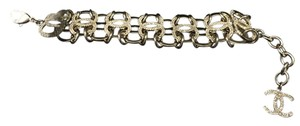 Chanel CHANEL NWT 2016 AIRLINE RUNWAY CRYSTAL SILVERTONE BRACELET ($2025)