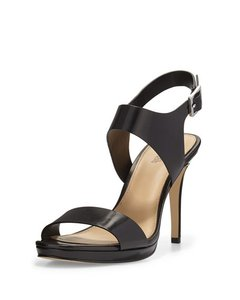 Michael Kors Claudia Sandal Leather Black Sandals