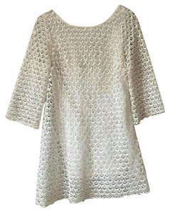 Anthropologie short dress White Lace on Tradesy