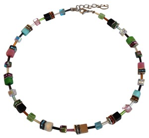 COEUR DE LION COEUR DE LION Geo Cube necklace multicolor Pastel